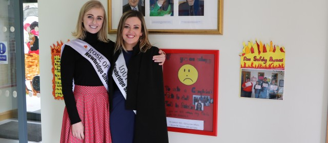 Visit from Elysha Brennan – 2015 Rose of Tralee Winner!!