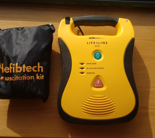 Defibrillator bought from fundraising efforts