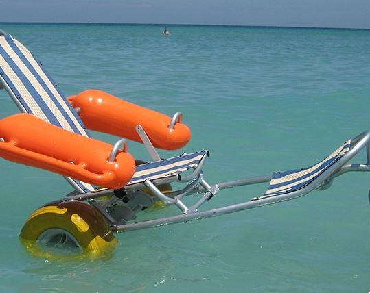Donation of a floating beach wheelchair